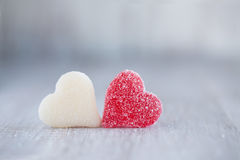 Free Red And White Valentines Day Candy Hearts Horizontal Royalty Free Stock Photo - 48679355