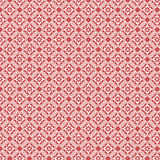 Red And White Vintage Damask Repeat Pattern Royalty Free Stock Photos