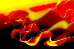 Free Red And Yellow Color With Wavy Background Royalty Free Stock Photography - 139714757