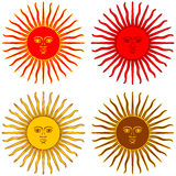 Red And Yellow Sun Royalty Free Stock Photo