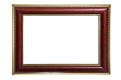 Red anf gold photo frame Royalty Free Stock Images