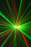 Red anf green laser light Royalty Free Stock Image