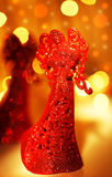 Red angel Christmas ornament Royalty Free Stock Photography