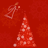 Red angel greeting card Royalty Free Stock Photography