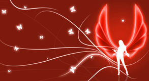 Red Angel illustration Royalty Free Stock Image