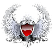 Red angel shield Royalty Free Stock Photos