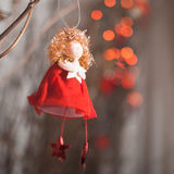 Red angel with star Royalty Free Stock Photos