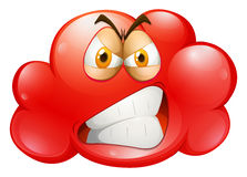Red angry emotion cloud. Illustration vector illustration