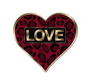 Red Animal Print Heart Royalty Free Stock Photos