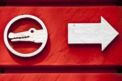 Red Animal Sign Royalty Free Stock Photos