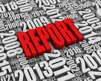 Red Annual Report Stock Photo