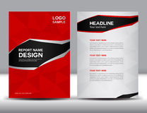 Red Annual report Vector illustration Stock Photography