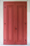 Red Antique Door Royalty Free Stock Photography