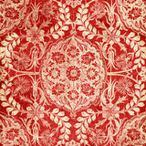Red Antique Floral Damask Background vector illustration