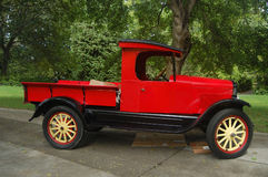 Red antique Ford Model-A pick-up truck Royalty Free Stock Image