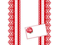 Red Antique Lace Stock Image