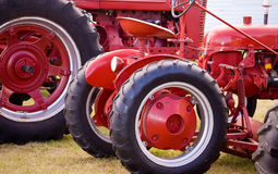 Red antique tractor Stock Photos