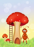 Red ants cartoon Stock Photo