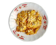 Red ants egg in omelet Thai fried egg style. Royalty Free Stock Photo