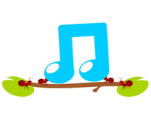 Red ants music work illustration Stock Photo