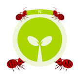 Red ants and nature symbol illustration Royalty Free Stock Image