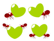 Red ants teamwork illustration Royalty Free Stock Image