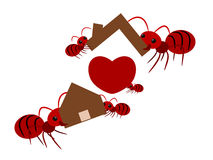 Red ants teamwork illustration Stock Photography