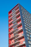 Red apartment building Royalty Free Stock Photos