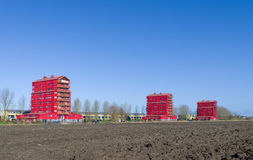 Red apartments Stock Photography