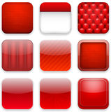 Red app icons. Stock Image