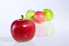 Red apple. On the white background Royalty Free Stock Image