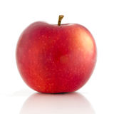 Red apple. Isolated on white background royalty free stock photography