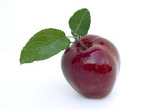 Red apple. On white background Stock Image