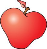Red Apple. Vector image of a Red Apple with a brown stem Vector Illustration