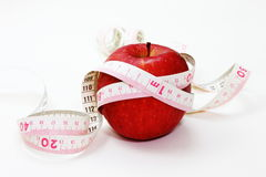 Red Apple. On white background Stock Images