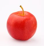 Red apple. The red apple on white background Royalty Free Stock Photo