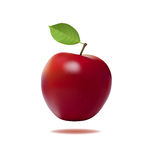 Red apple. With leaf vector illustration Royalty Free Stock Photo