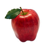 Red apple. Isolated on white Royalty Free Stock Photography