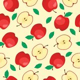 RED APPLE FRUIT SEAMLESS PATTERN stock illustration