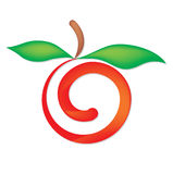 Red apple. Stylised vector healthy food Royalty Free Stock Images