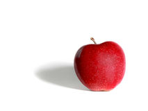 Red apple. Image of a red apple on white background Stock Image