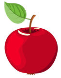 The red apple. Isolated on white. Vector illustration Stock Photos