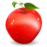 Red apple. Image shows a fresh, juicy red apple over white background. Gradient mesh object Stock Photography