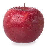Red apple. With drops on white background Stock Photo