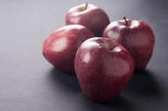 Red apple. Fresh sweet red apple with gray background Stock Photo