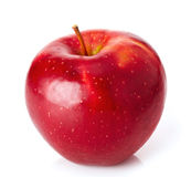 Red apple. Red ripe apple on white background Royalty Free Stock Photography