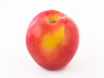 A red apple. Red apple on a white background stock photos