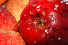 Red apple. To wash apple, red apple Stock Photo