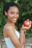 With red apple Stock Photography