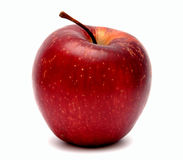 Red apple. Red ripe apple on a white background Stock Photography